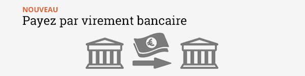 Nouveau - payez par virement bancaire